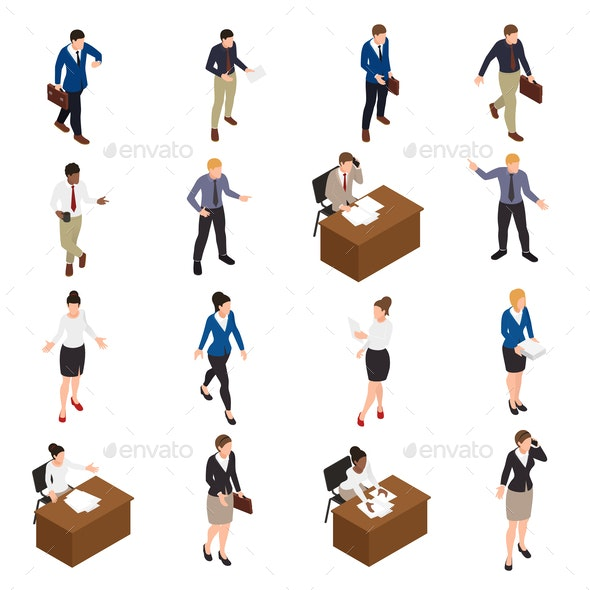 Business People Icons Set - People Characters