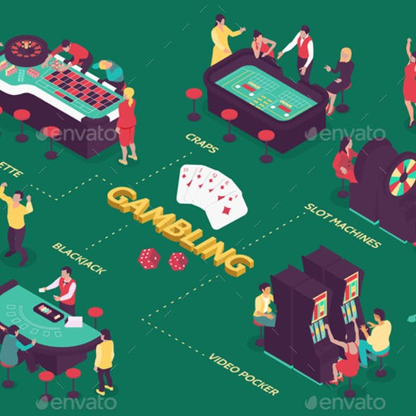 Casino Isometric Flowchart