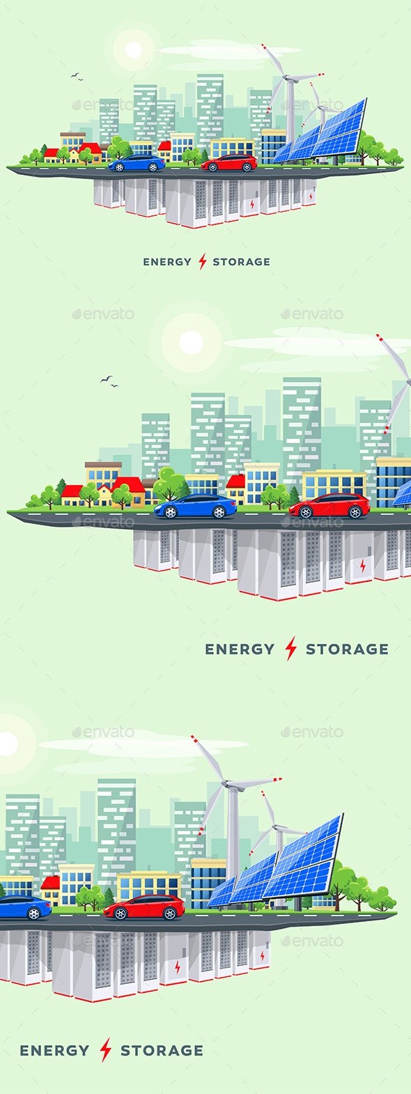 Electric Power Station and Underground Battery Storage System - Industries Business