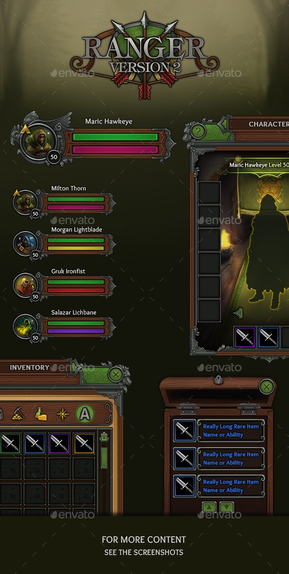 Ranger - RPG User Interface - User Interfaces Game Assets