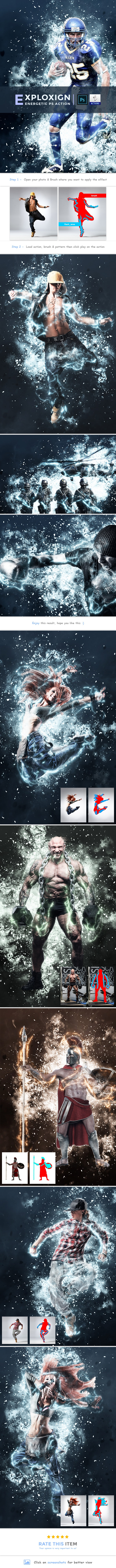 ExploXign - Energetic PS Action - Photo Effects Actions