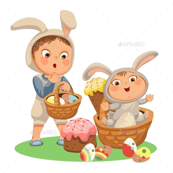Little Girl or Boys Hunting Decorative Chocolate - People Characters