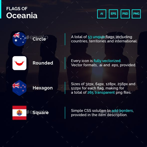 Flags of Oceania - Flag Icons
