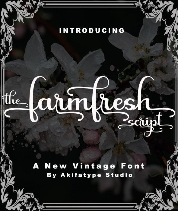 Farmfresh script - Script Fonts