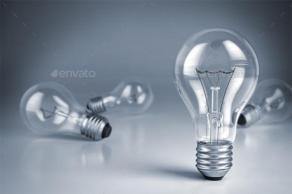 Lamp Bulbs - 3D Backgrounds