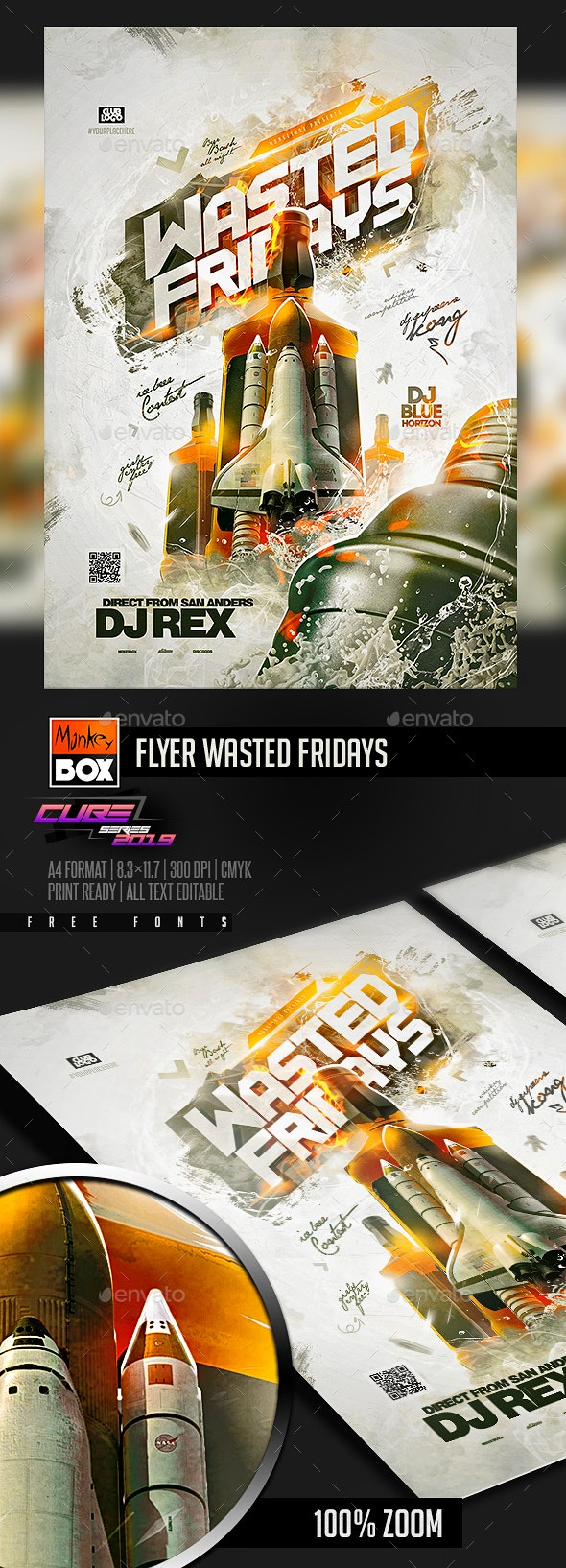 Flyer Wasted Fridays - Clubs & Parties Events