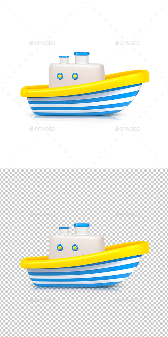 Ship Toy - Objects 3D Renders