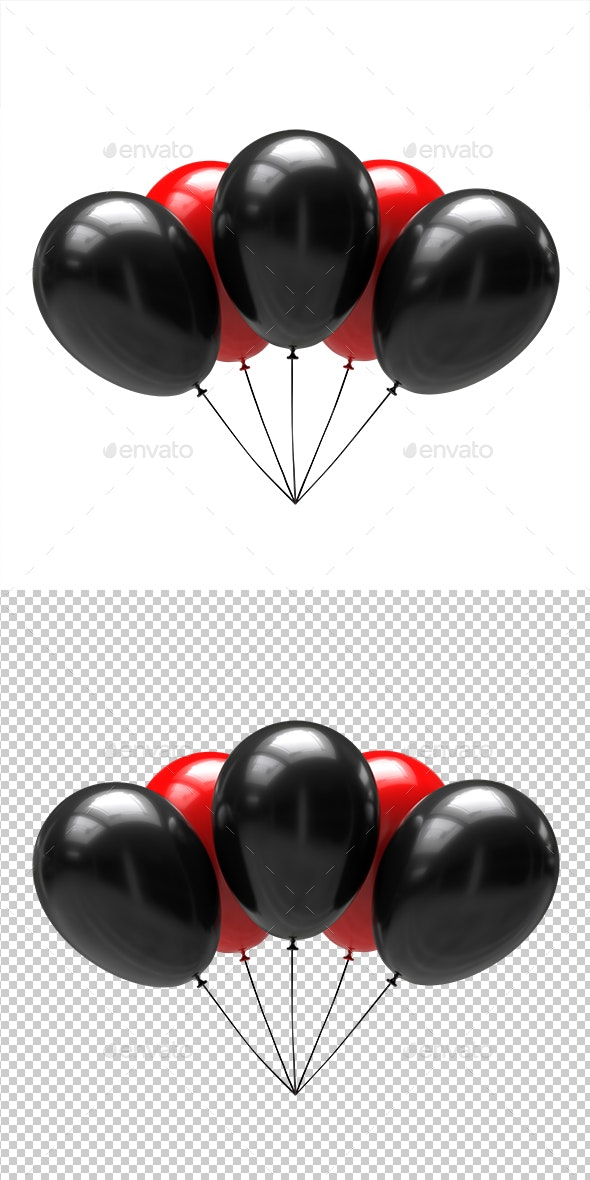Balloons - Objects 3D Renders