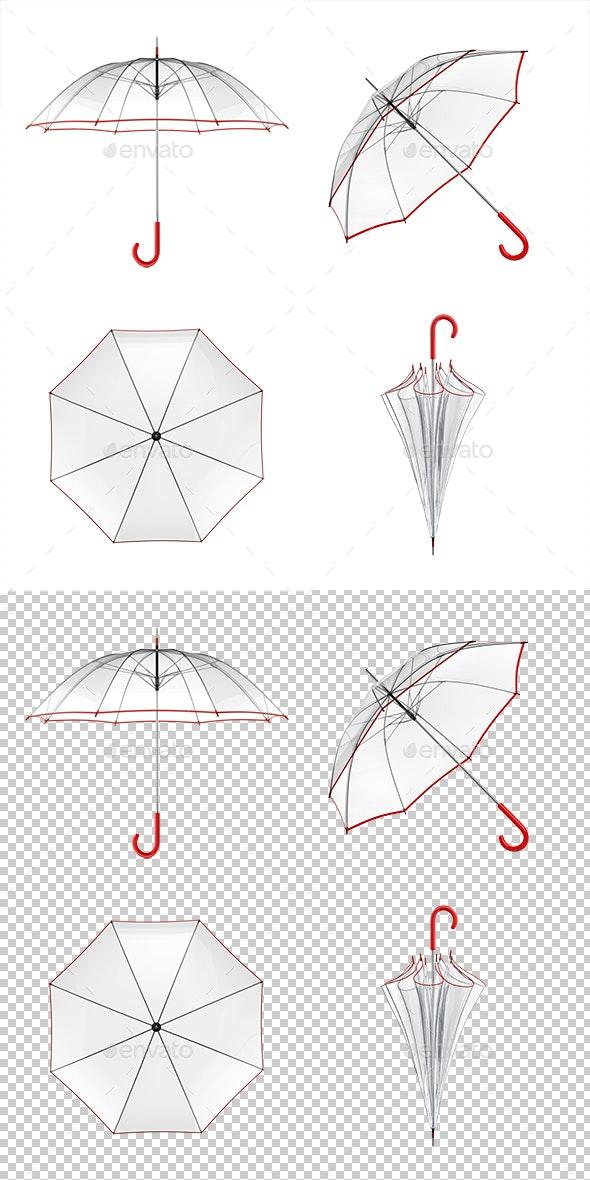 Umbrella Set - Objects 3D Renders
