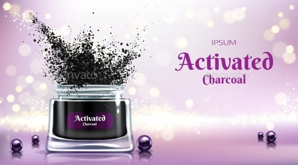 Cream with Activated Charcoal Vector Banner - Backgrounds Business