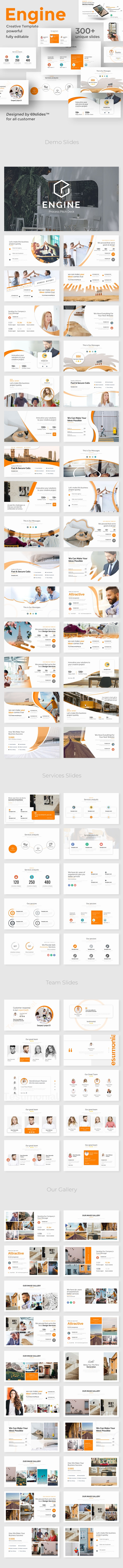 Engine Process Pitch Deck Powerpoint Template - Creative PowerPoint Templates