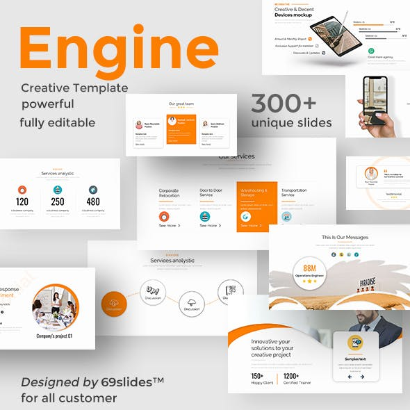 Engine Process Pitch Deck Powerpoint Template