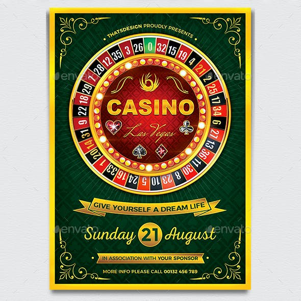 Casino Flyer Template V2