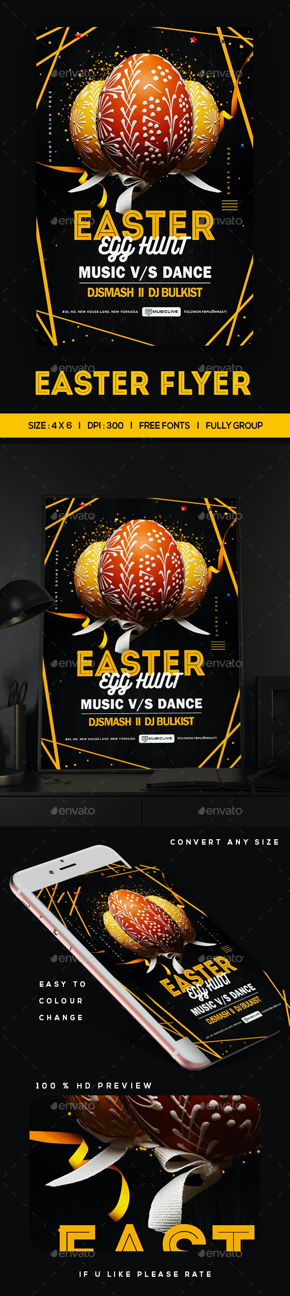 Easter Egg Hunt Event Flyer - Clubs & Parties Events