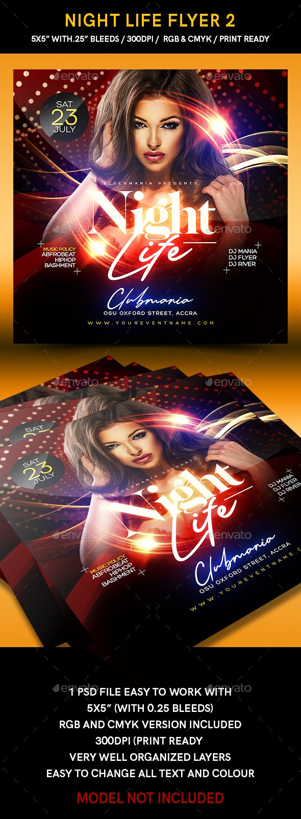 Night Life Flyer 2 - Clubs & Parties Events