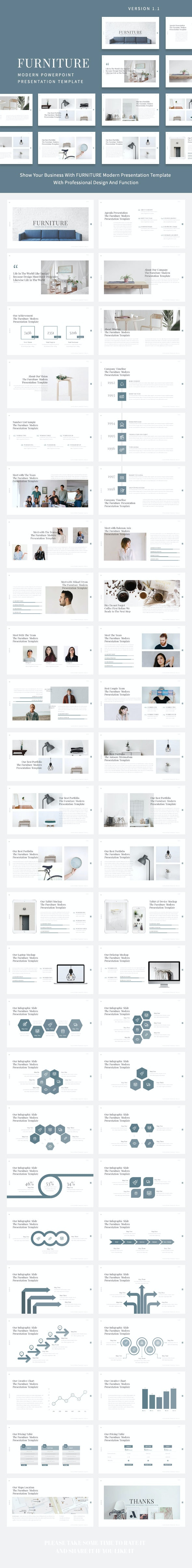 Furniture - Modern Powerpoint Presentation Template - Business PowerPoint Templates