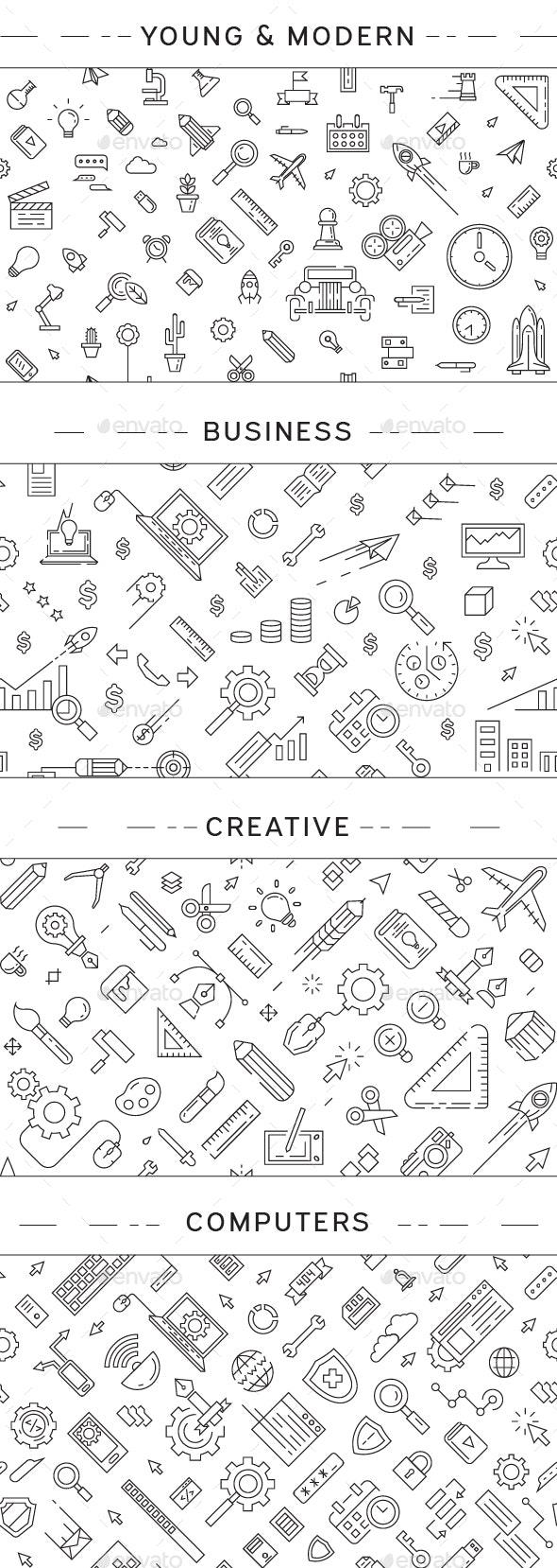 Business Seamless Patterns - Patterns Decorative