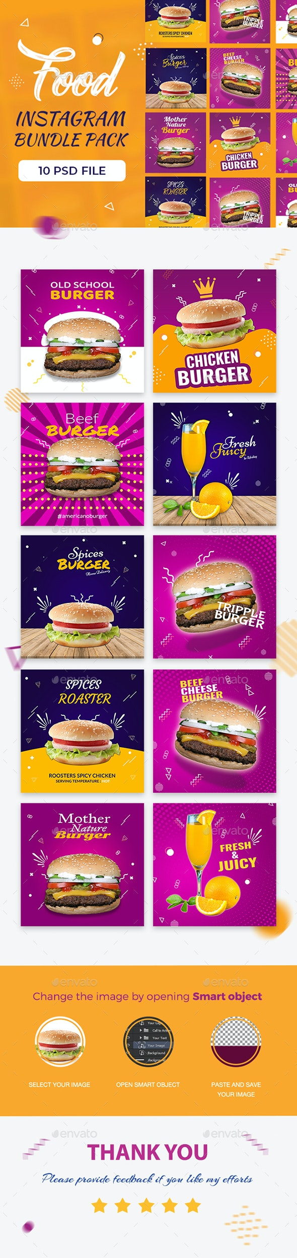 10 Food Banner Set - Banners & Ads Web Elements