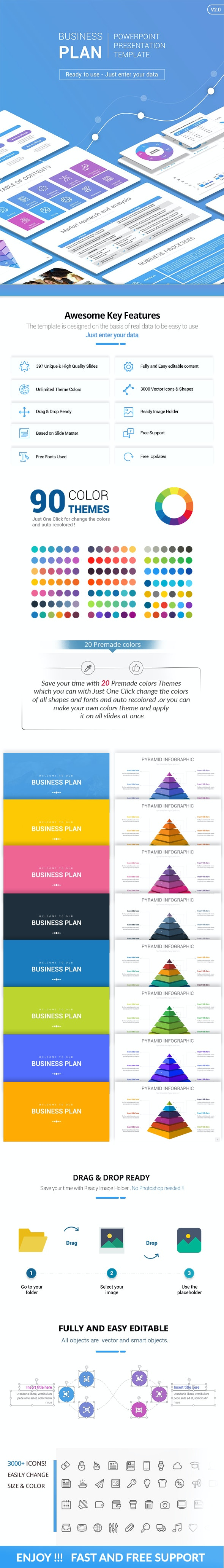 Business Plan - PowerPoint Presentation Template - Pitch Deck PowerPoint Templates