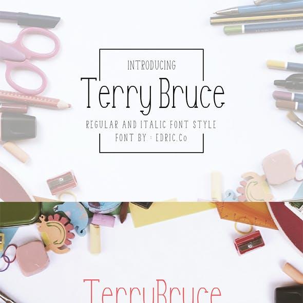 TerryBruce - Imperfectly beautiful Sans Serif