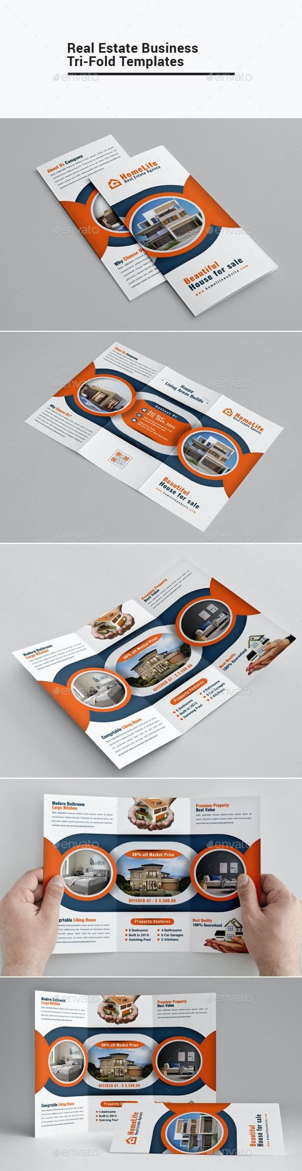 Real Estate Business Tri-Fold - Brochures Print Templates
