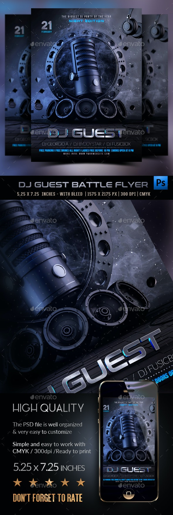 Guest Dj Night Flyer - Clubs & Parties Events