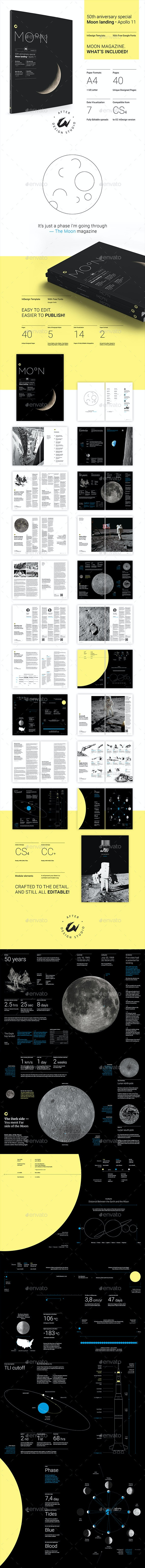 Moon | InDesign Template - Magazines Print Templates