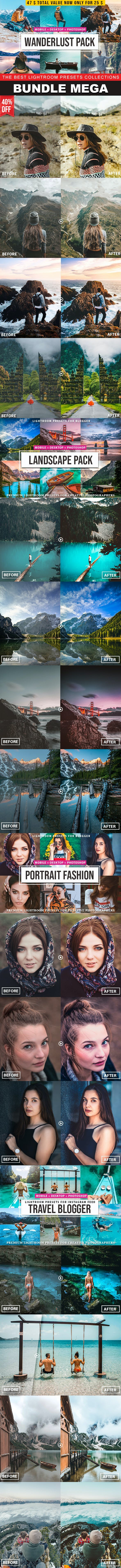 Mega Bundle Lightroom Presets - Lightroom Presets Add-ons