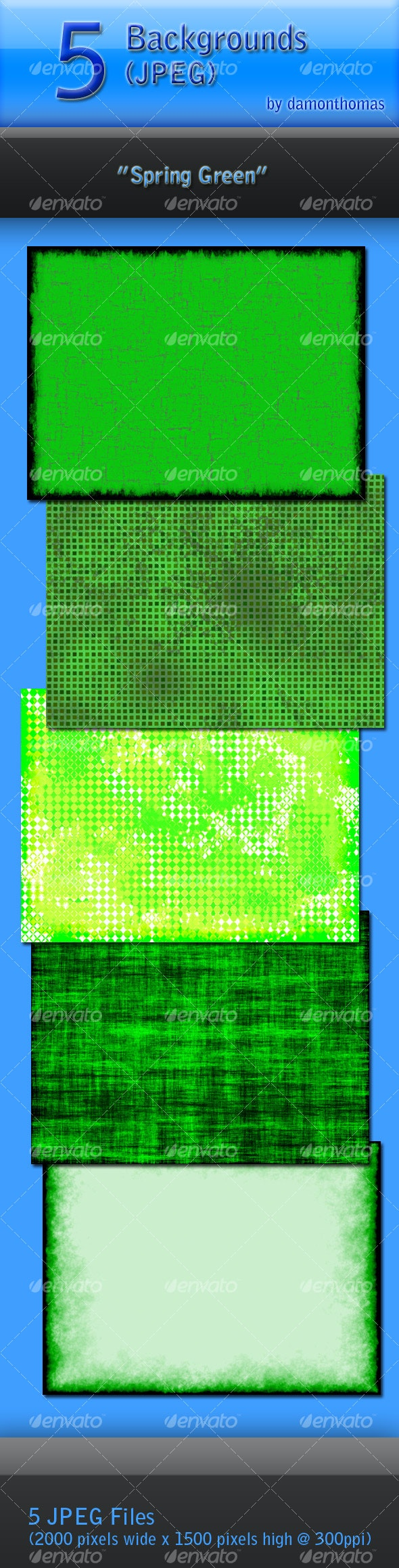 """5 """"Spring Green"""" Backgrounds - Abstract Backgrounds"""