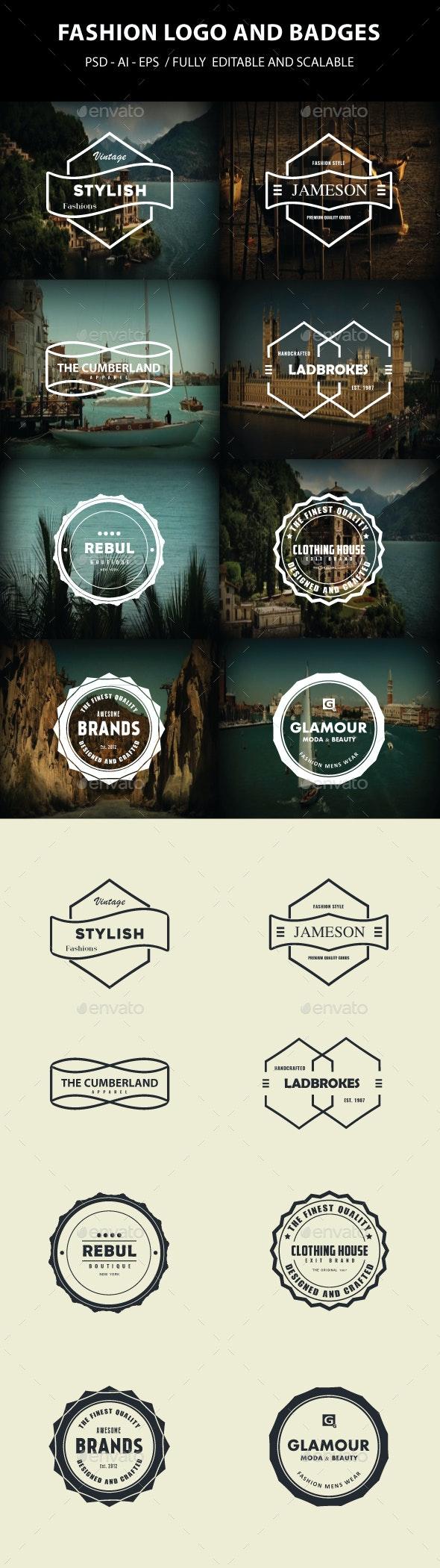 Fashion Logo and Badges - Badges & Stickers Web Elements