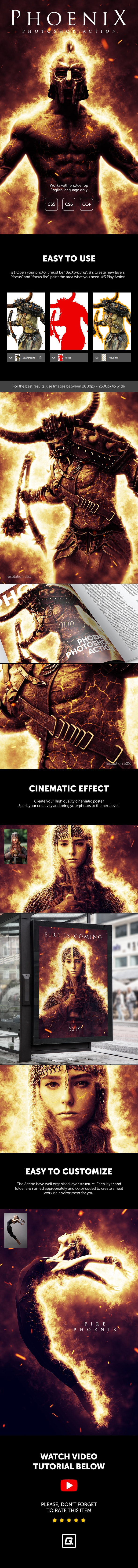 Phoenix - Photoshop Action - Photo Effects Actions