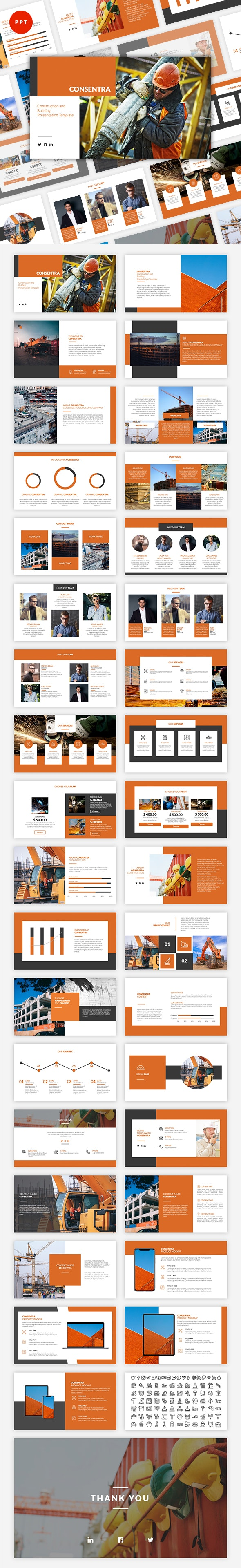 Consentra - Construction & Building PowerPoint Template - Business PowerPoint Templates