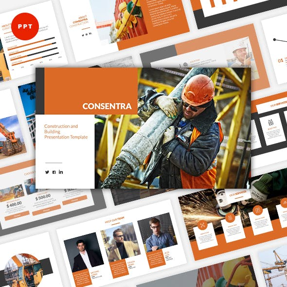Consentra - Construction & Building PowerPoint Template