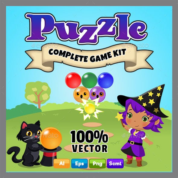Puzzle Bubble Style Game Kit