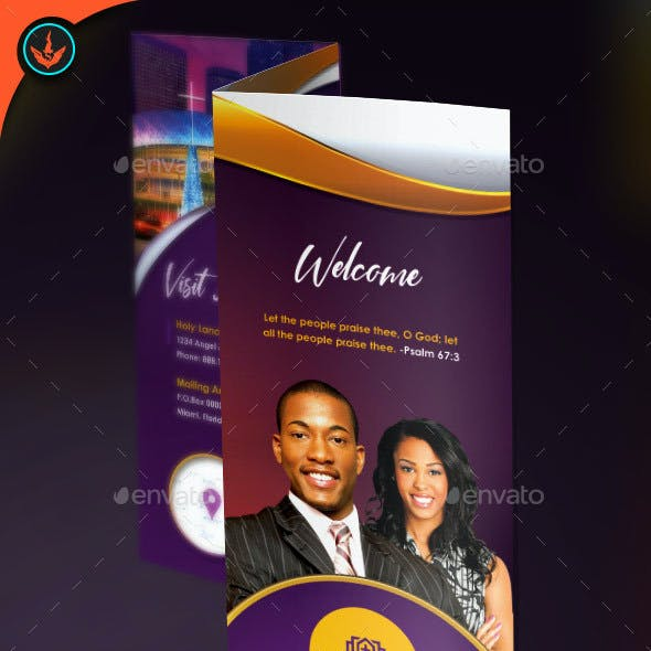 Church Tri-Fold Brochure Template 1