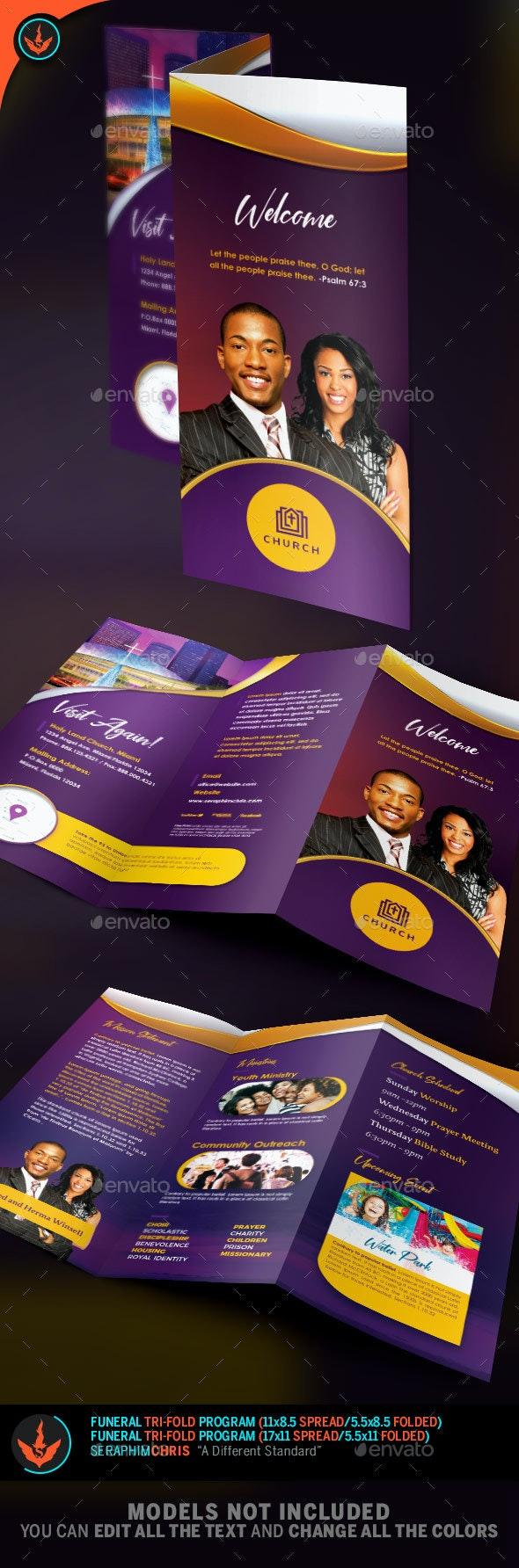 Church Tri-Fold Brochure Template 1 - Brochures Print Templates