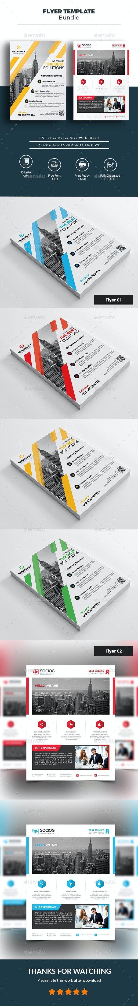 Business Flyer Bundle - Corporate Business Cards