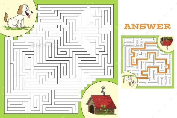 Maze Game Puzzle - Backgrounds Decorative