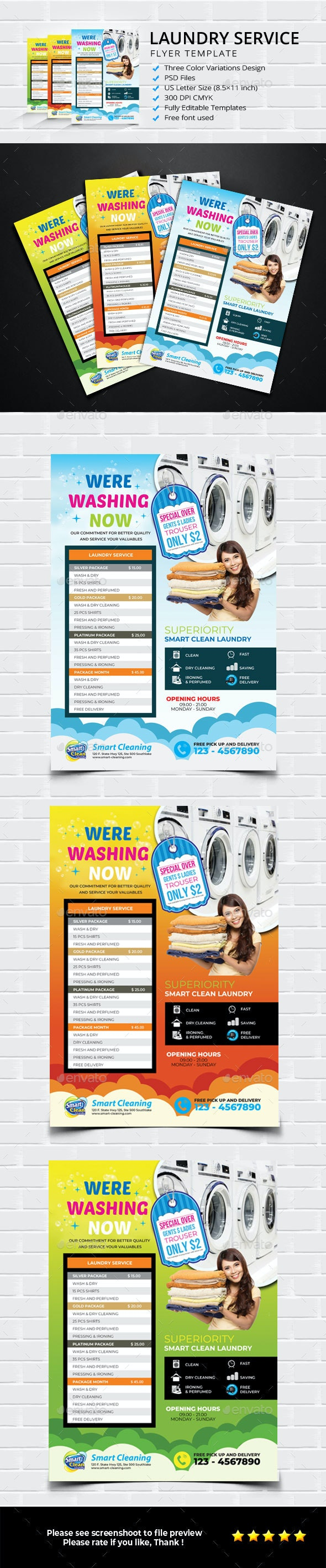 Laundry Services - Corporate Business Cards