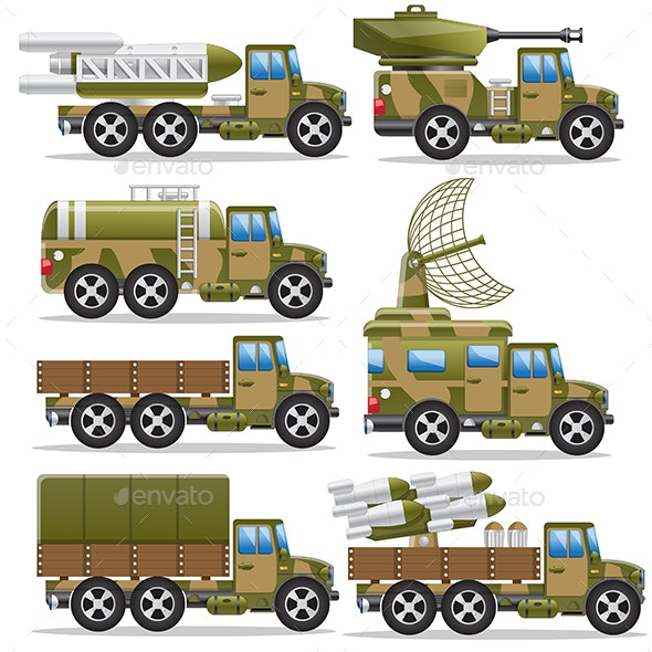 Set of Military Equipment - Man-made Objects Objects