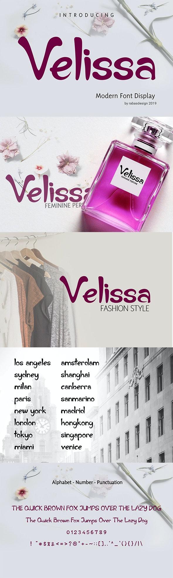 Velissa - Decorative Fonts