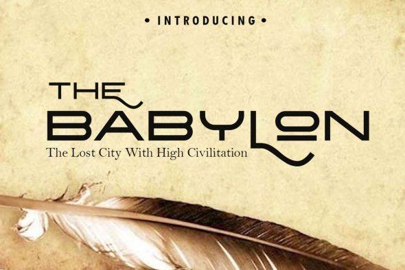 The Babylon Strong Typeface - Miscellaneous Serif