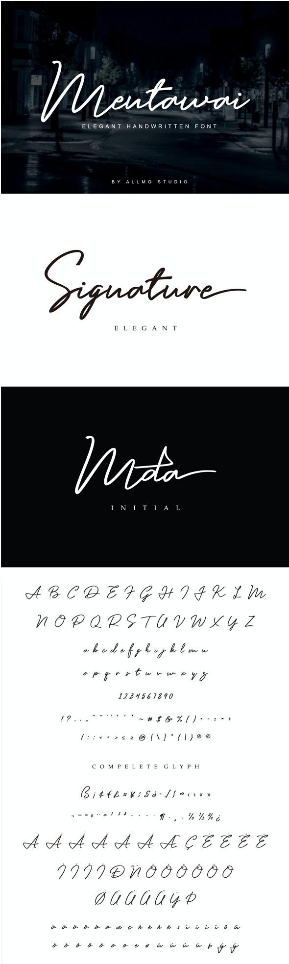 Mentawai - Hand-writing Script