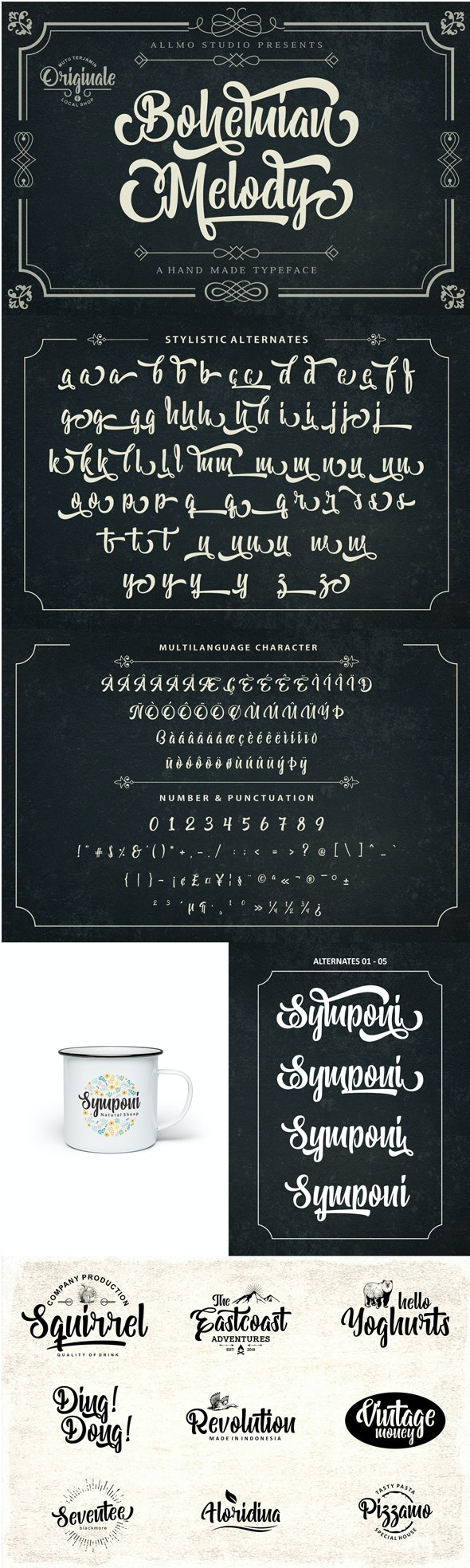 Bohemian Melody - Hand-writing Script