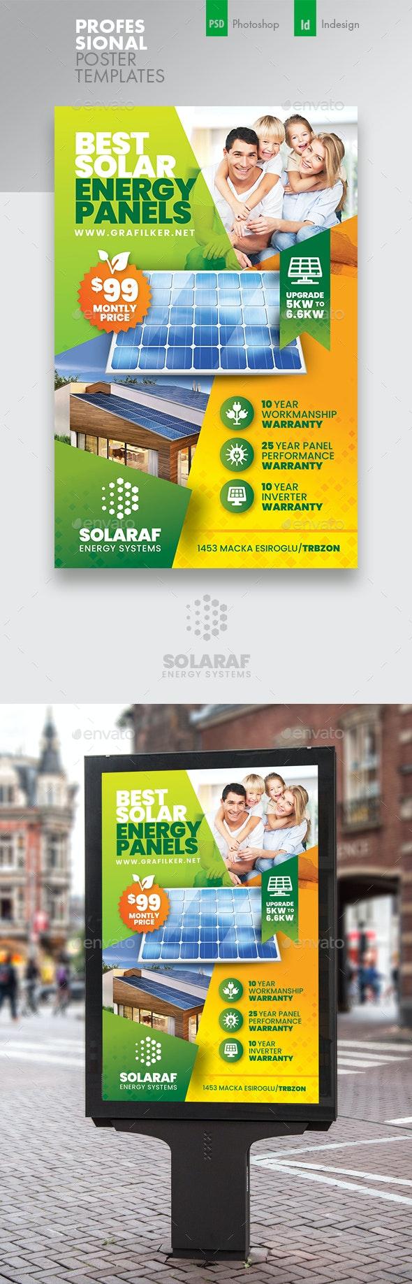Solar Energy Poster Templates - Signage Print Templates