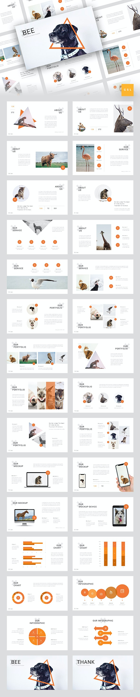 Bee - Animal & Pet Services Google Slides Template - Google Slides Presentation Templates