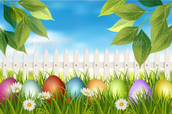 Easter Spring Backdrop - Miscellaneous Seasons/Holidays