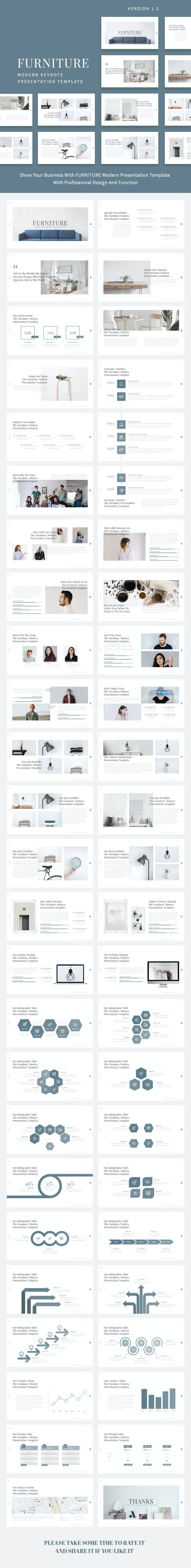 Furniture - Modern Keynote Presentation Template - Business Keynote Templates