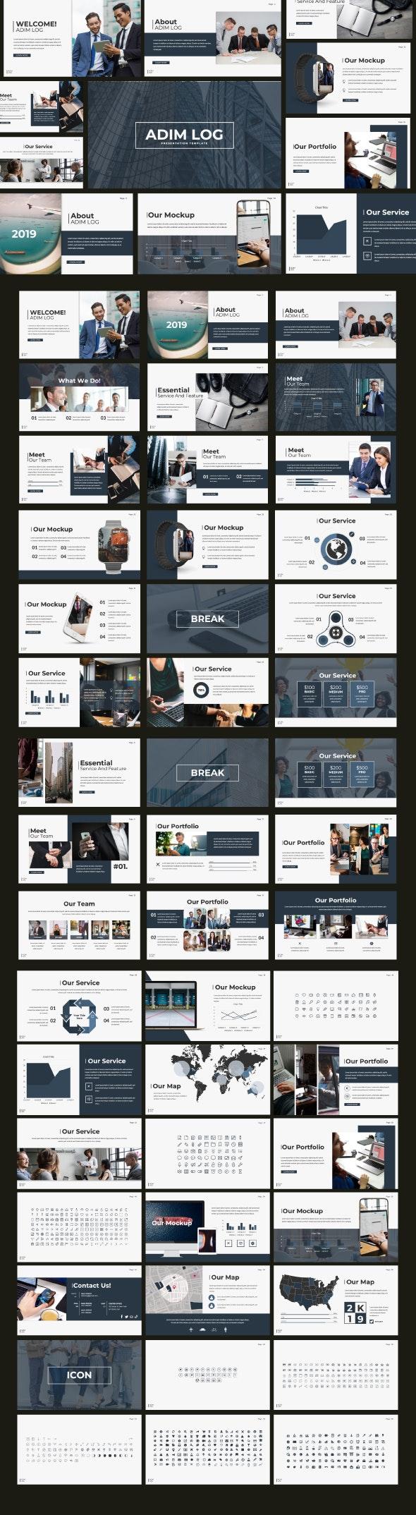 Admin Log Google Slide Template - Google Slides Presentation Templates