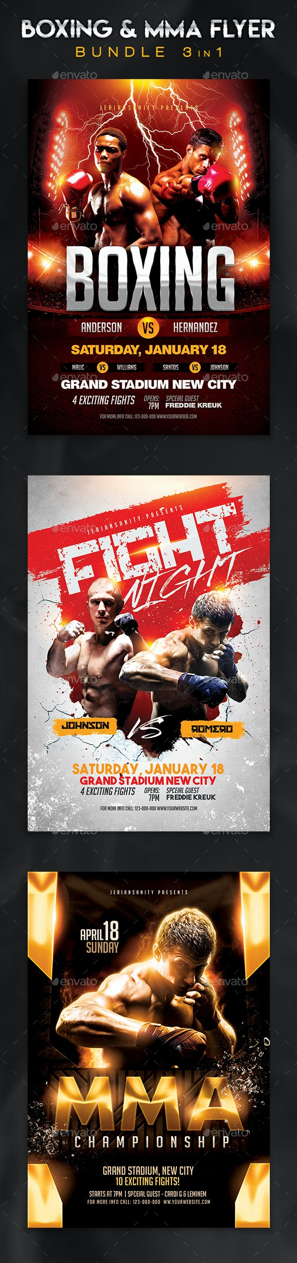 Boxing & MMA Flyer Bundle - Sports Events